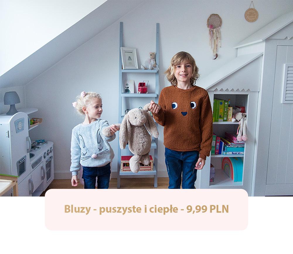 Jesienne bluzy przydadzą się w szafie każdego dziecka.