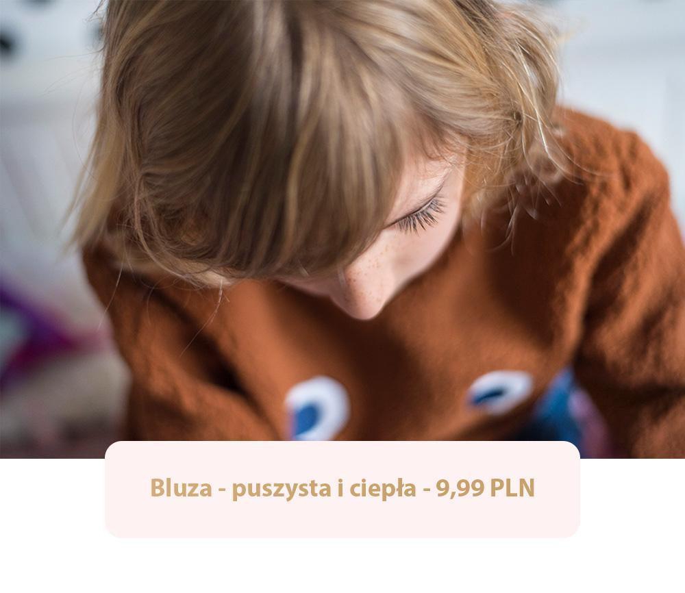 Ruda bluza jesienna dla chłopca - w rozmiarze 134.