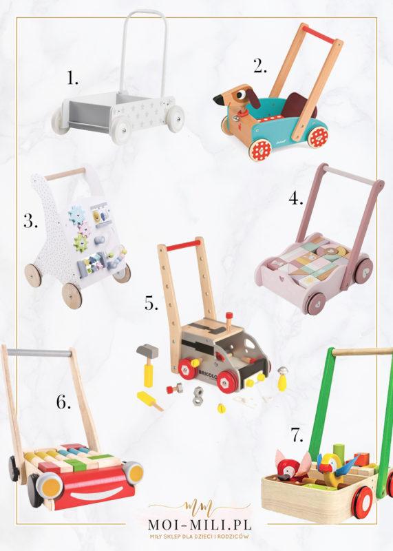 Pchacze to jedna z zabawek, które przydadzą się starszym niemowlakom.