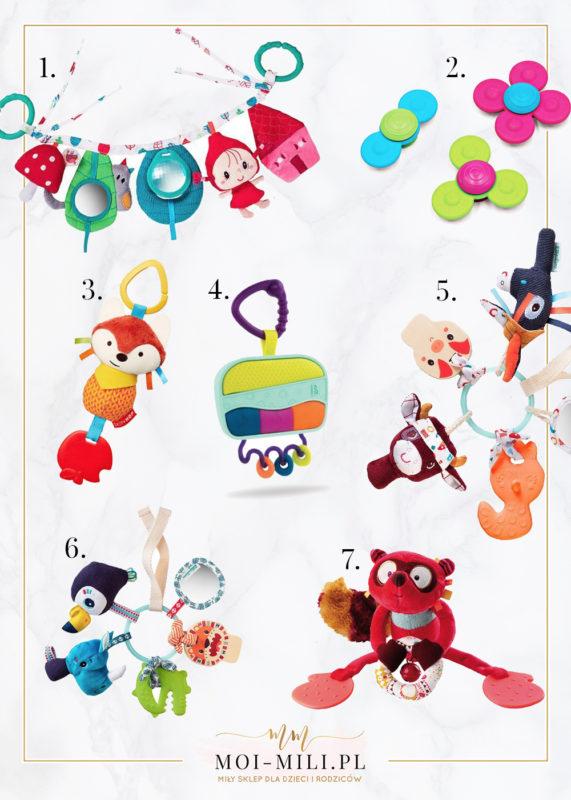 Zawieszki i pałąki do wózka to zabawki, które sprawią radość każdemu niemowlęciu.