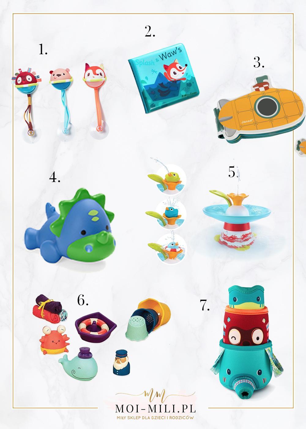Zabawki do wanny to świetny pomysł na prezent dla niemowlaka.