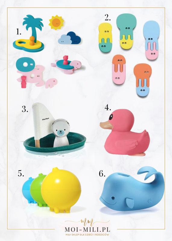 Zabawki do wanny dla niemowląt.