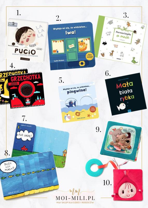 Książeczki dla niemowląt zainteresują już kilkumiesięczne dziecko.