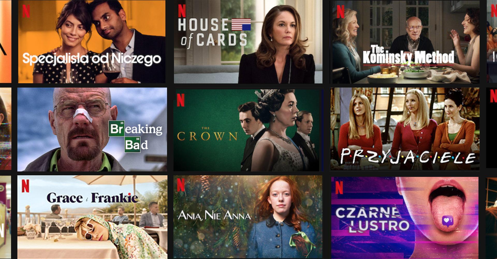 Najlepsze seriale Netflix - obejrzyj najlepsze seriale komediowe, kryminalne i historyczne.