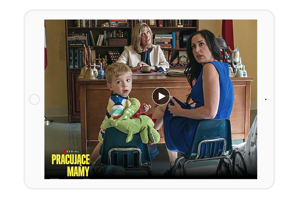 """Najlepsze seriale Netflix dla mam i kobiet w ciąży - z lekkim przymrużeniem oka o tym, jak wygląda życie """"po dziecku""""."""