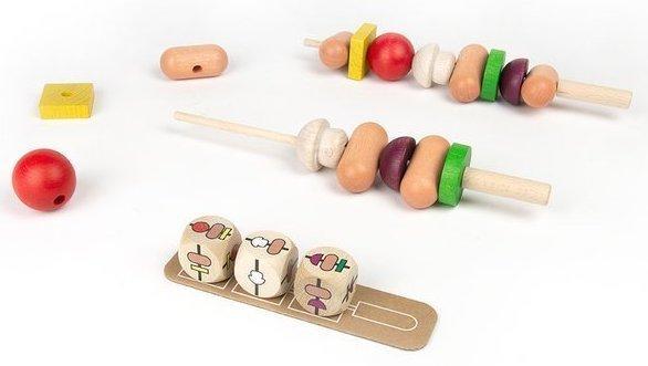 Drewniana, rodzinna układanka - BBQ Party to propozycja gry dla 3 latków od Milaniwood.