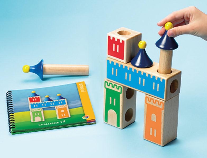 Castle Logix to logiczna układanka, będąca przykładem gry dla 3 latka, która uczy koncentracji i analitycznego myślenia.