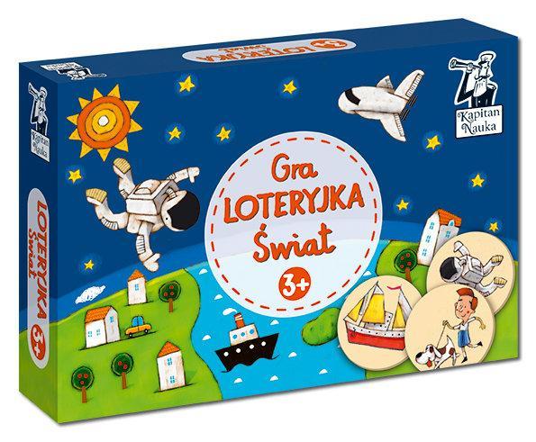 Gry dla 3 latków bawią i uczą - np. dzięki loteryjce Kapitana Nauki dziecko poznaje kolory.