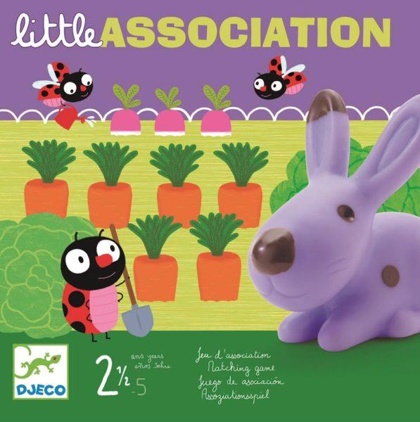 Gra planszowa Little Association - propozycja gry dla dwulatka francuskiej firmy Vilac.