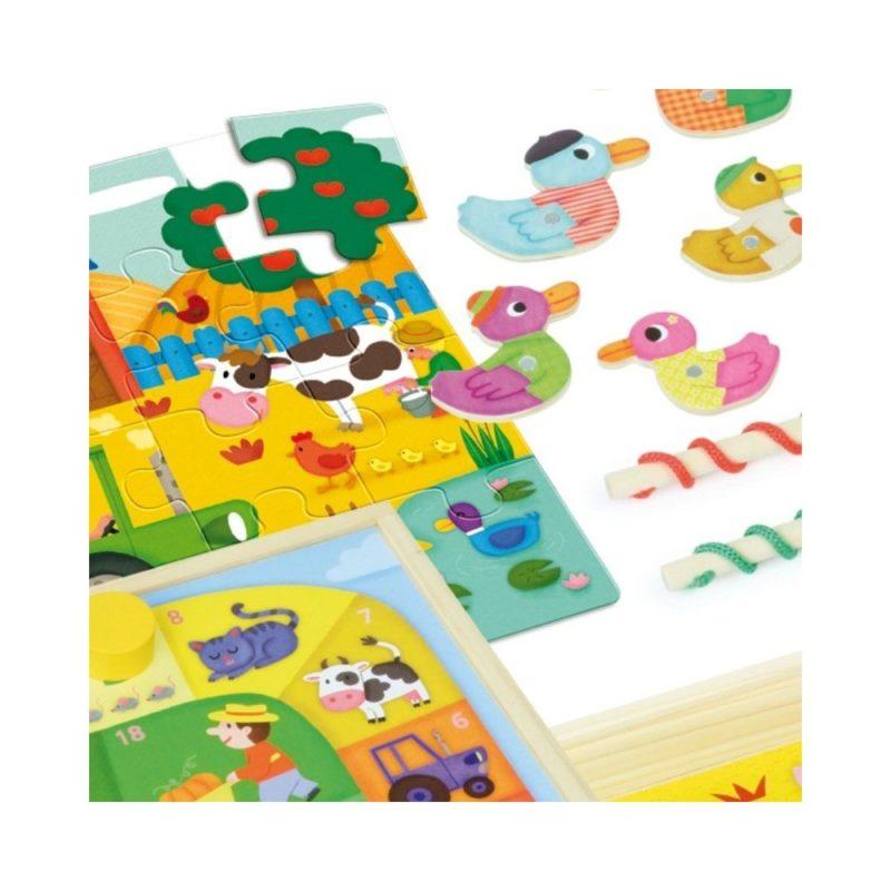 Puzzle, łowienie kaczek, memo i wyścig - wspaniałe gry dla 2 latka.