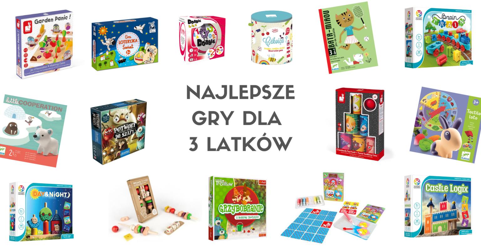 Gry dla 3 latków - zestawienie najciekawszych propozycji gier dla trzyletnich dzieci.
