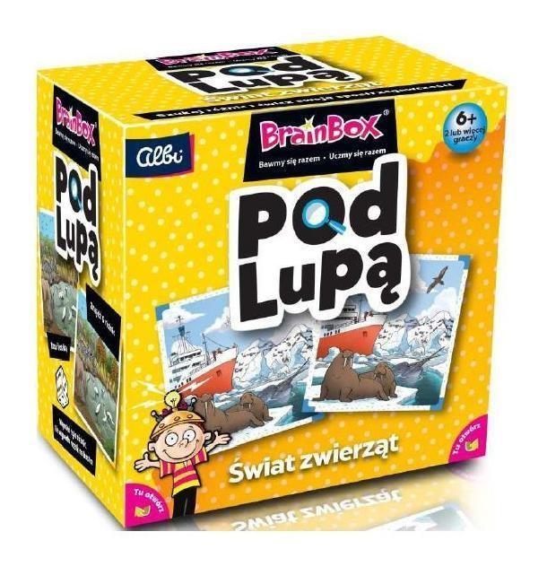 Pod Lupą - BrainBox to przykład gry dla 6 latków, która ćwiczy zapamiętywanie i szybkość.