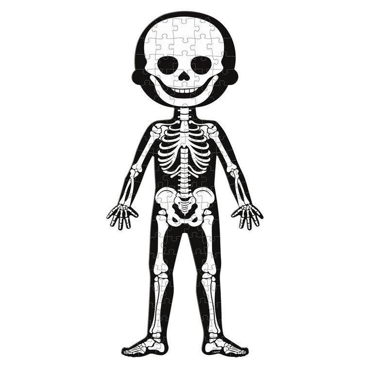 Świecące w ciemności puzzle ciało człowieka.