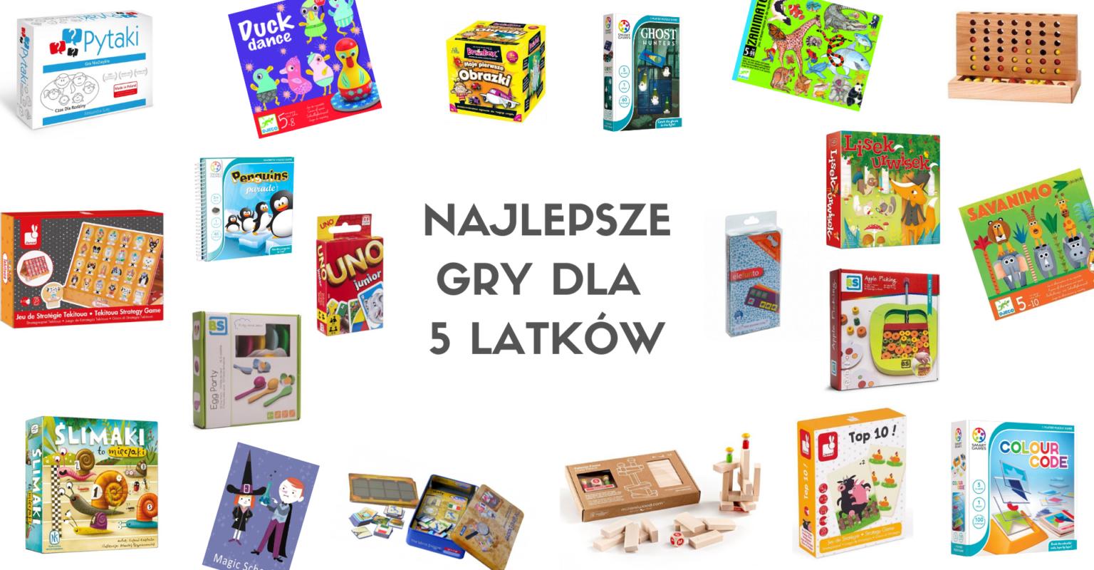 Odkryj najciekawsze gry dla 5 latków i wybierz coś dla swojego dziecka.