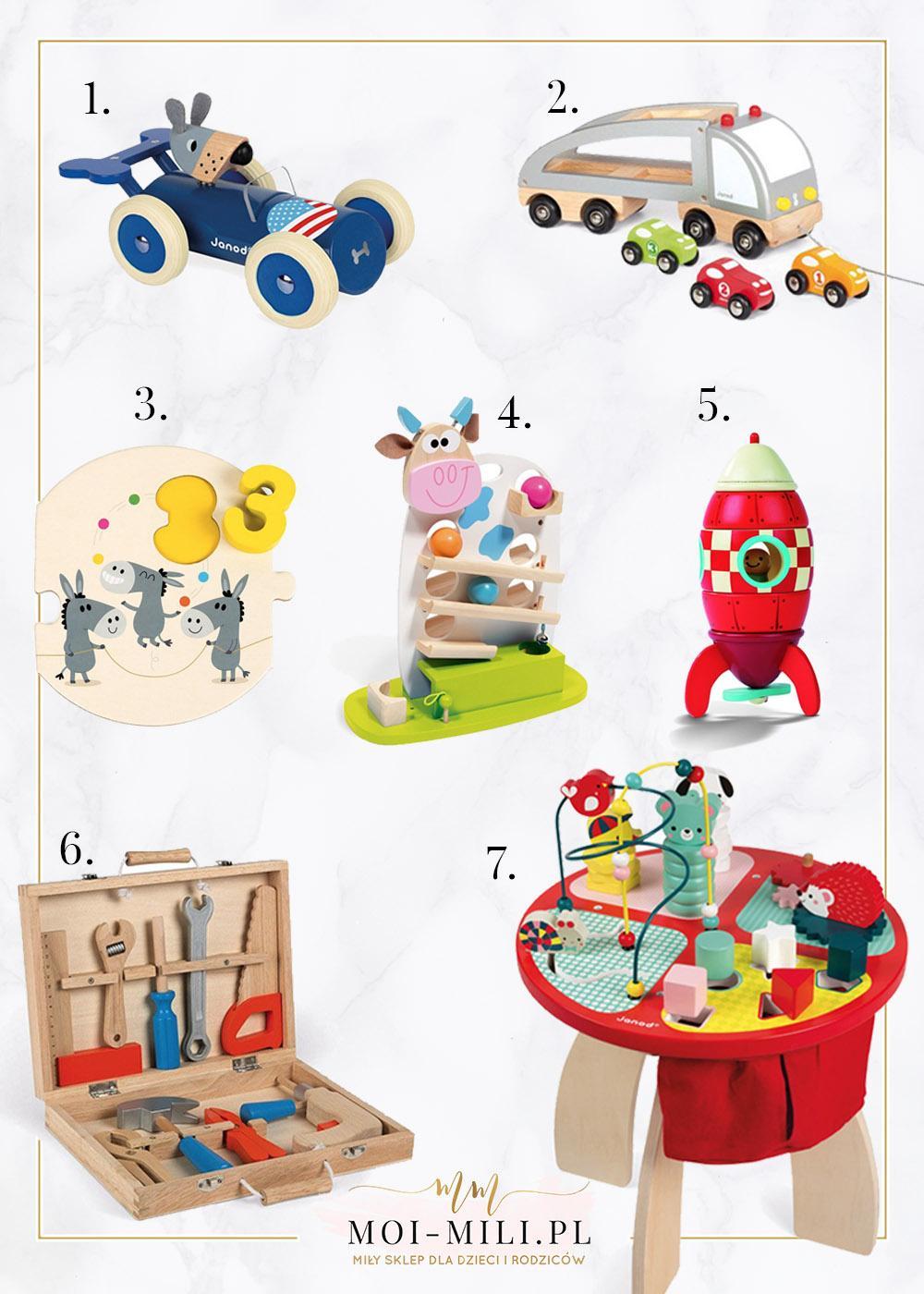 Drewniane zabawki to bardzo dobry prezent dla 2 latka.