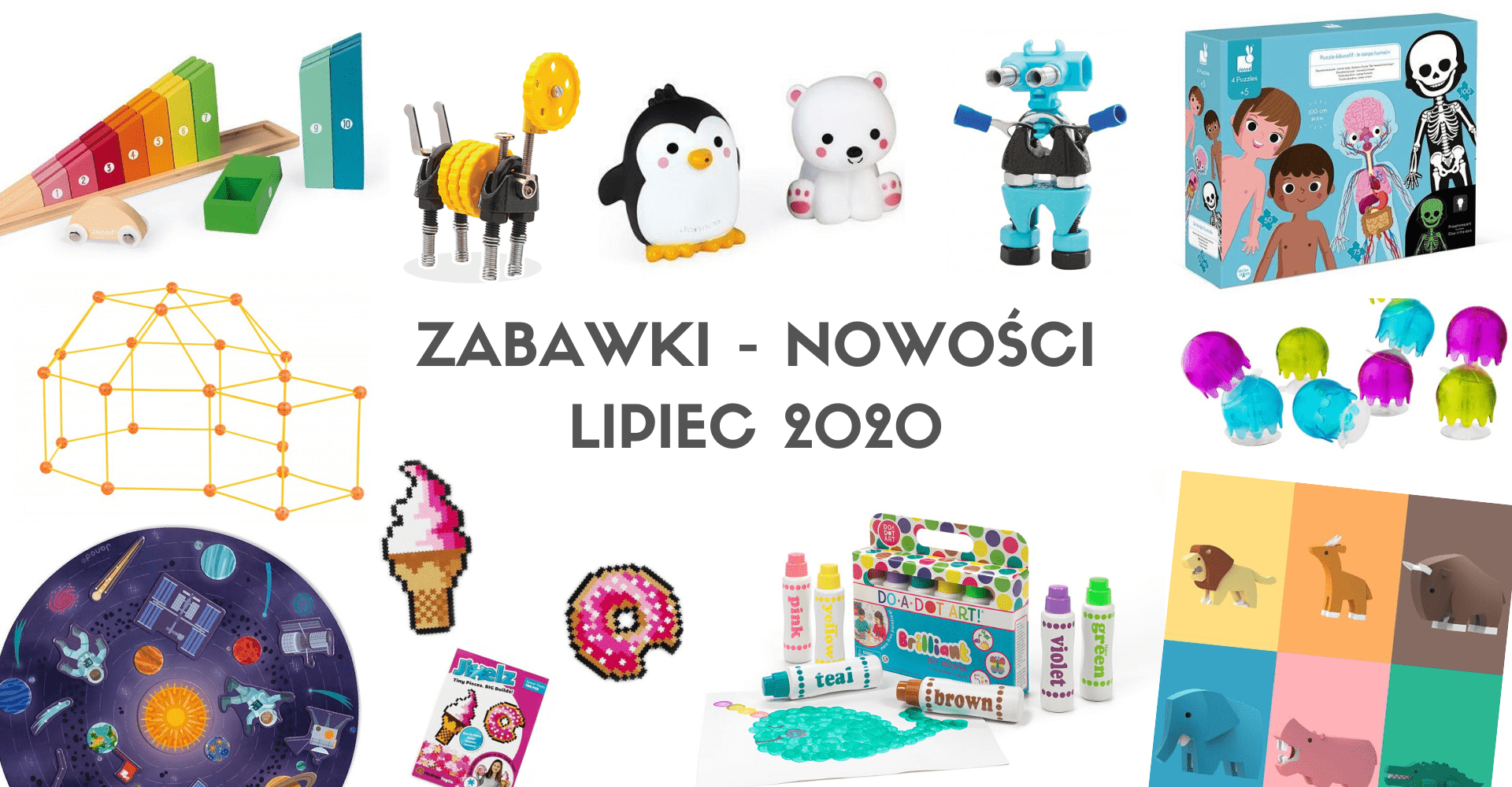 Puzzle Ciało człowieka i inne nowości zabawkowe – lipiec 2020