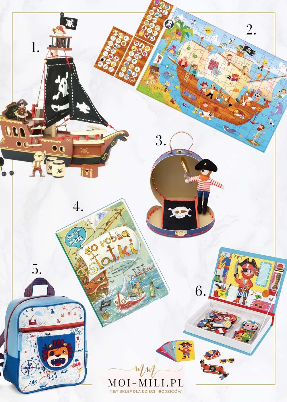 Propozycję na prezent dla 4 zainteresowanego piratami.