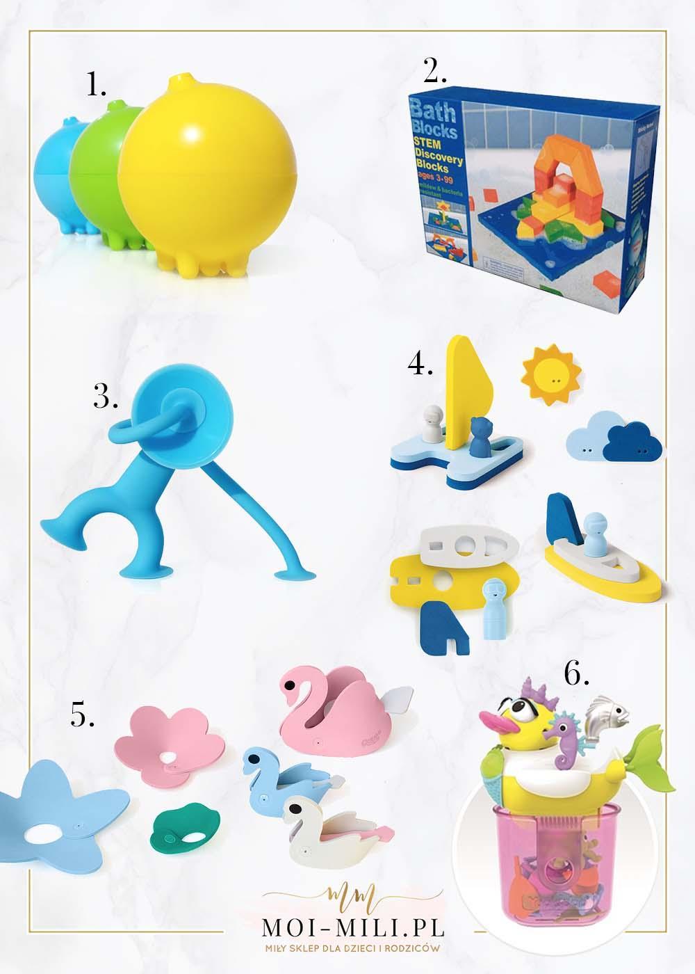 Zabawki do kąpieli to świetny pomysł na prezent dla 5 latka.